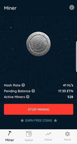Mining Cryptocurrency on mobile device
