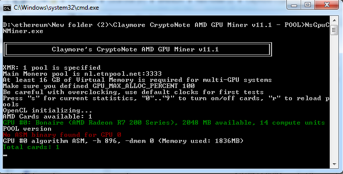 Claymore CryptoNote GPU Miner